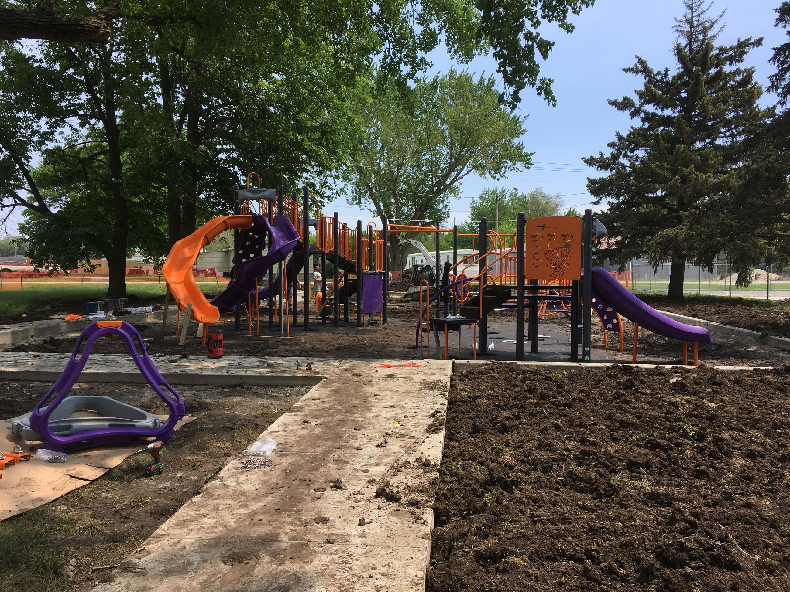 Central Park Playground Equipment Being Added